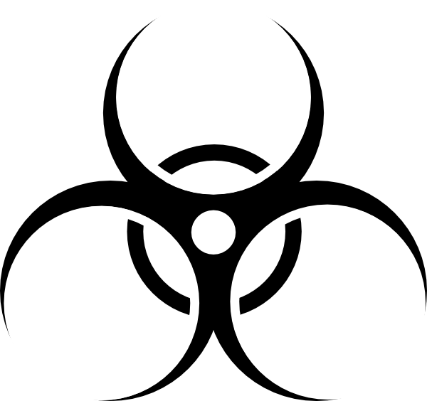 Toxic symbol trying to. Mask clipart biohazard