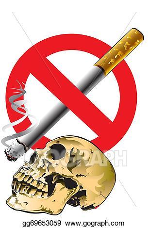 No smoke stock illustration. Danger clipart smoking cessation