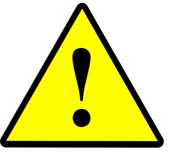 Danger clipart warning. Black yellow clip art