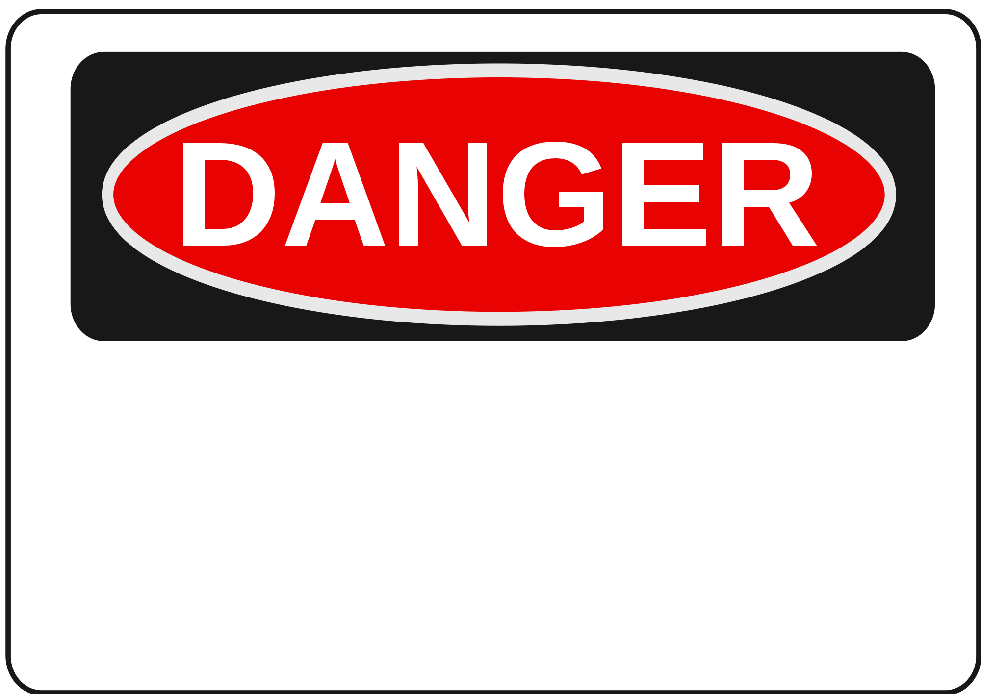 Danger clipart warning. Sign shop of library