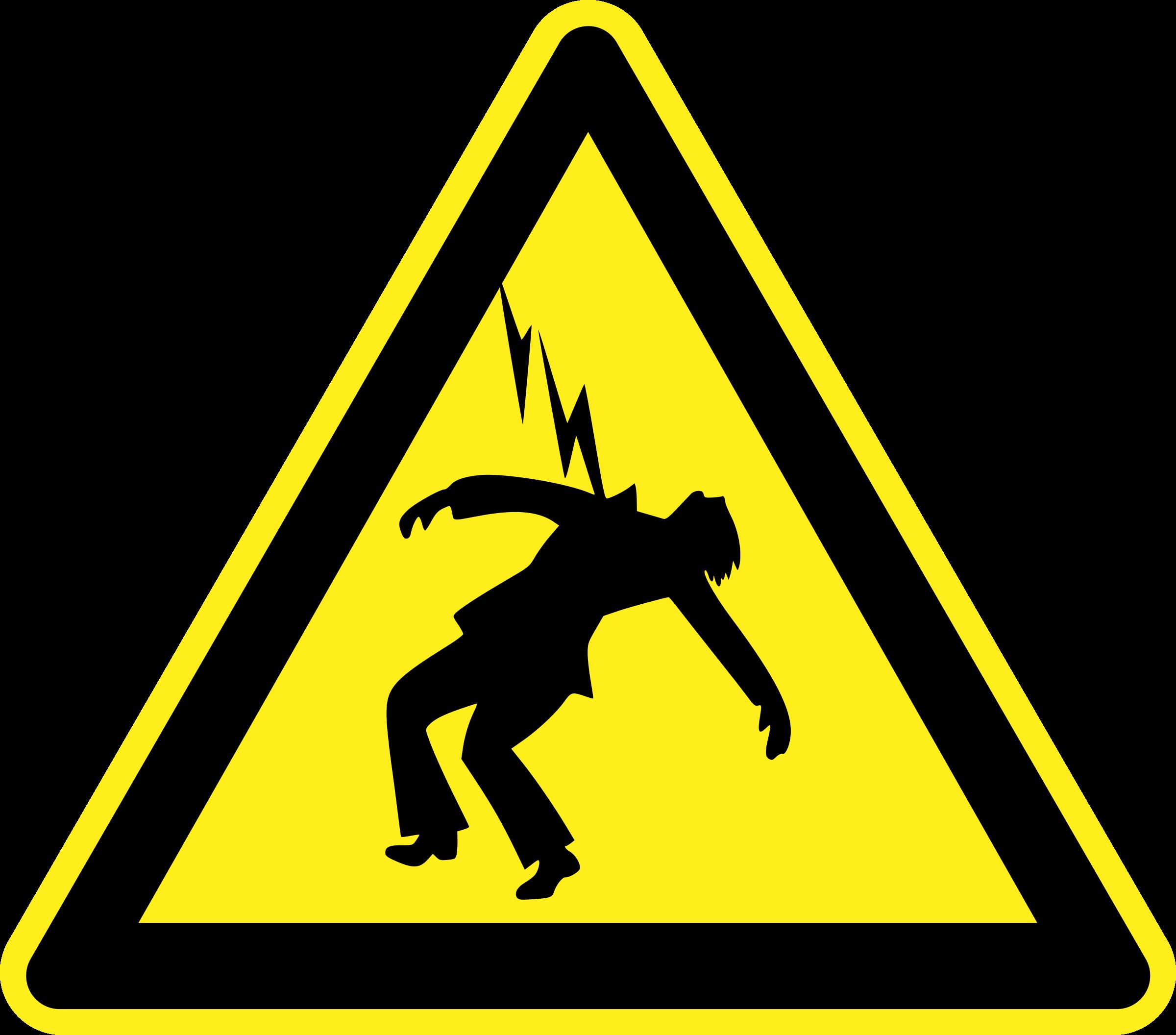 High voltage sign big. Danger clipart warning