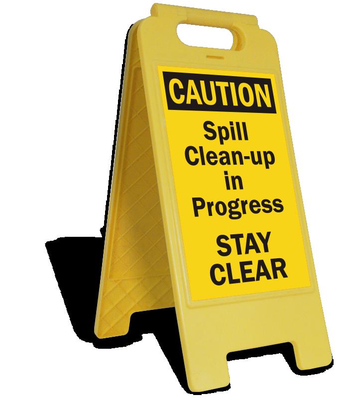 Spill clean up signs. Danger clipart wet floor