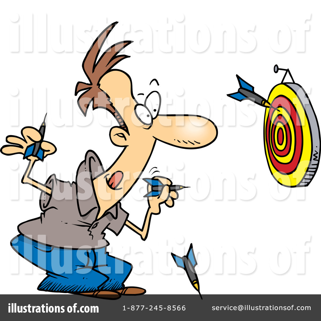 Dart clipart. Darts illustration by toonaday