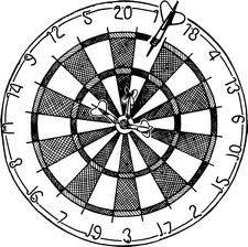 Dart clip art vector. Darts clipart