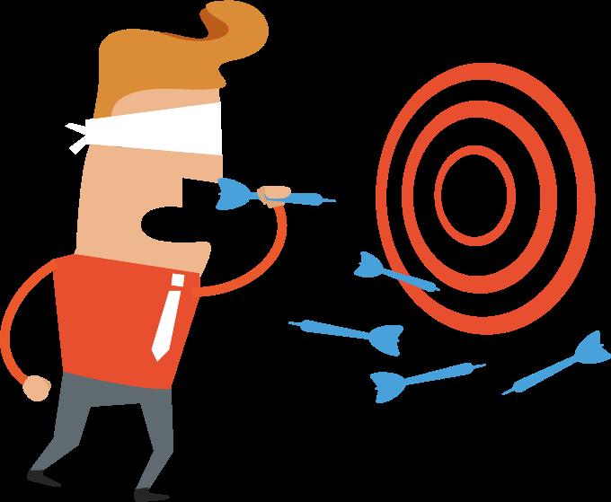 Goals clipart medium. Blindfolded darts player image
