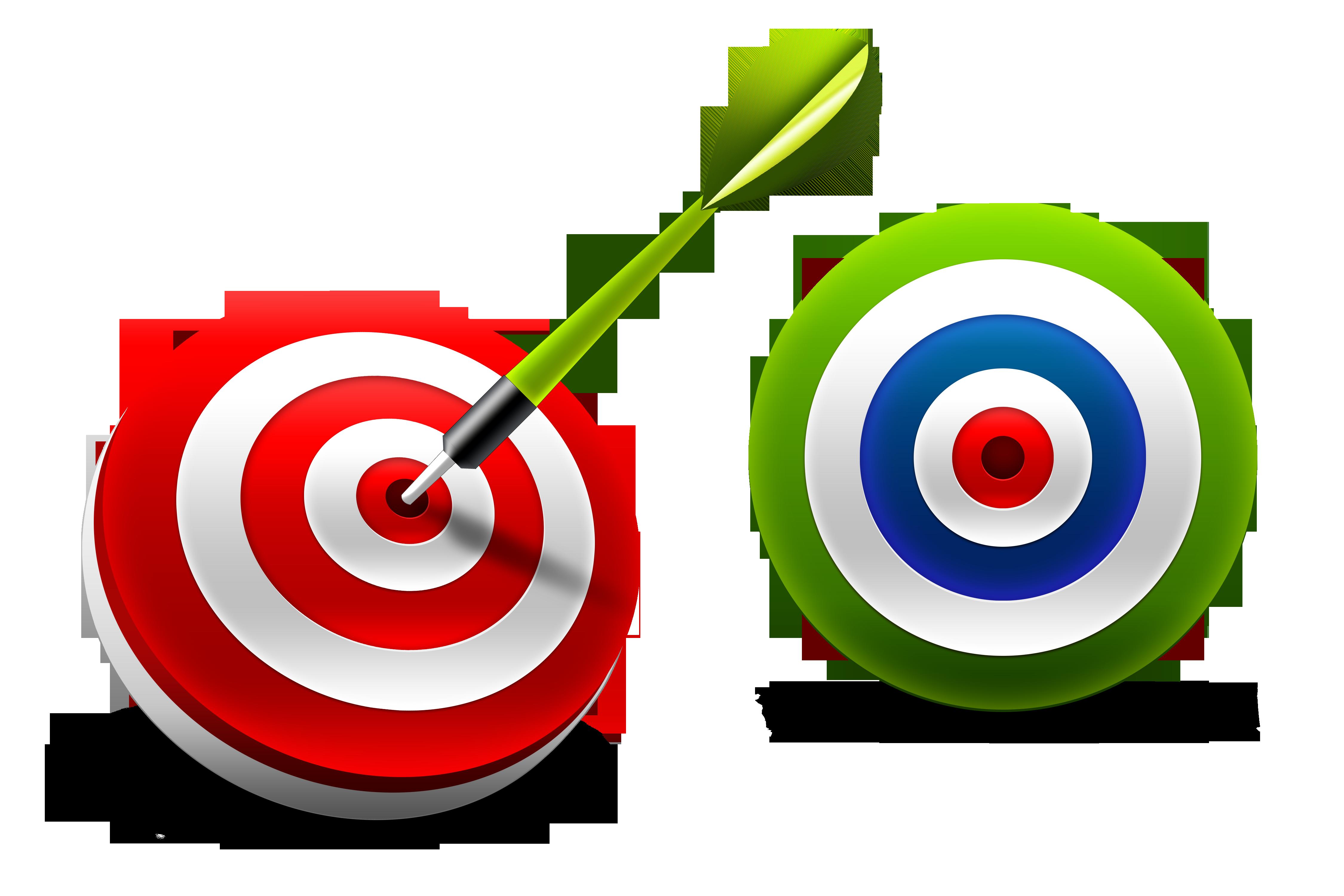 Darts three dimensional space. Goals clipart bullseye
