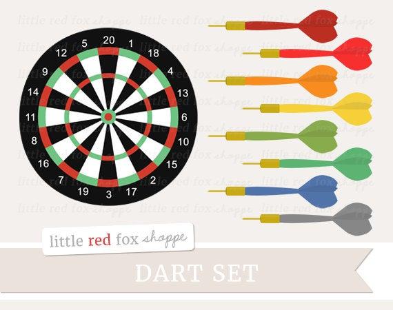Dart clipart clip art. Darts set game board