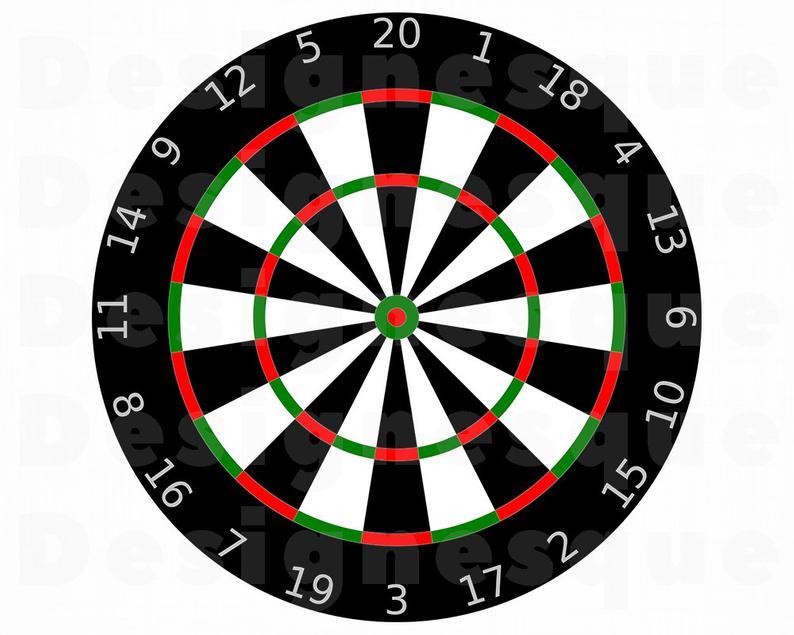 Svg board files for. Dart clipart dartboard