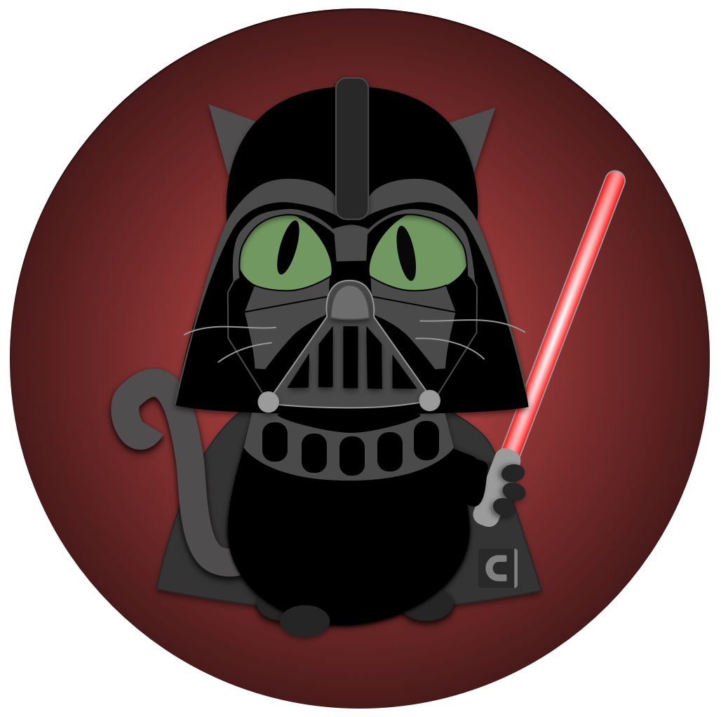 Cats by contrast security. Darth vader clipart animated