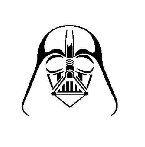 Outline embroidery one color. Darth vader clipart arm
