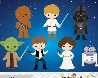 Star wars etsy . Starwars clipart cartoon