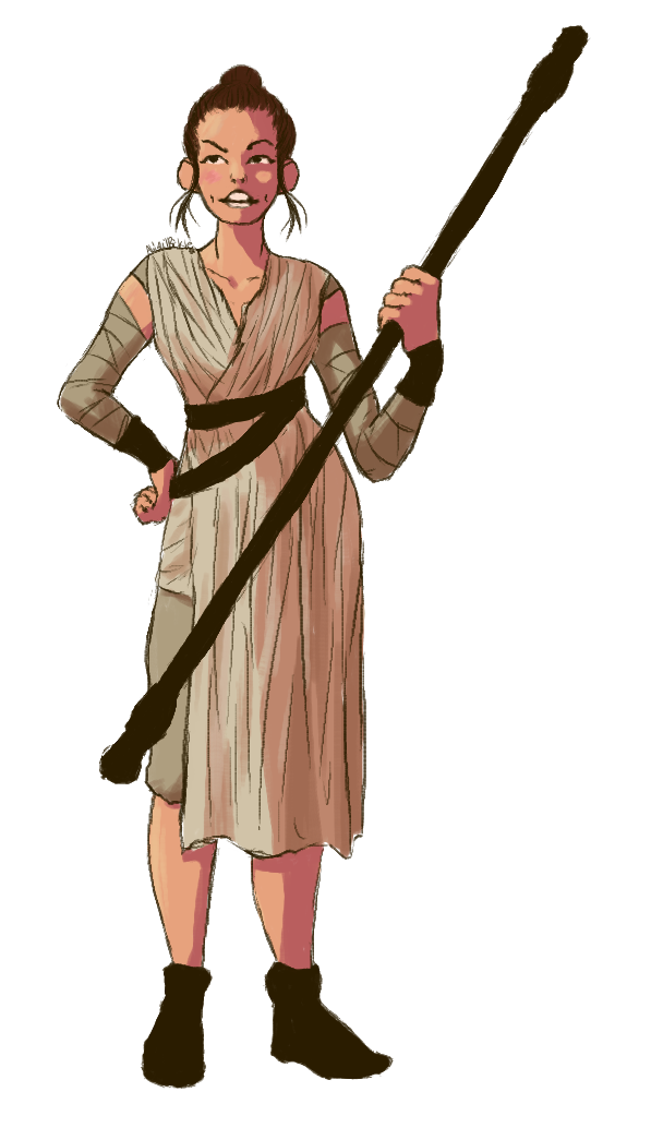 Starwars clipart rey. Clone wars at getdrawings