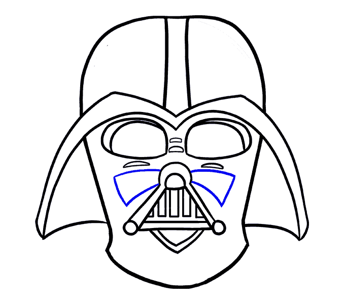 How to draw in. Starwars clipart head darth vader