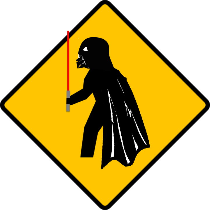 From flippin signs for. Darth vader clipart crossed