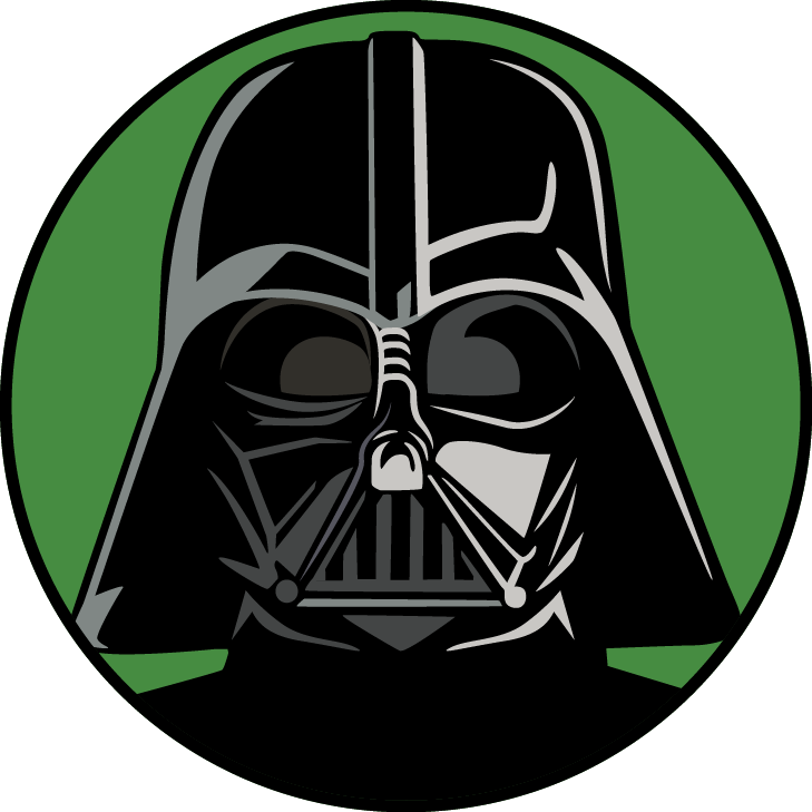 Starwars clipart head darth vader. Picking star wars character