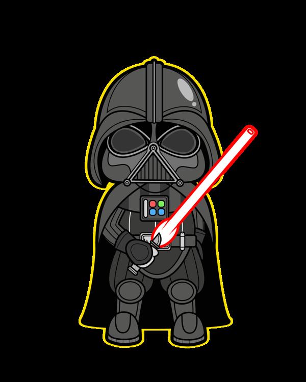 Star wars kawaii saga. Darth vader clipart dark side