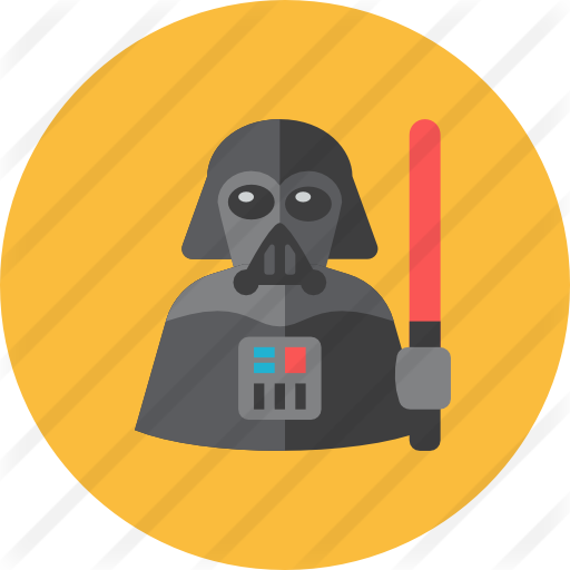Free people icons . Darth vader clipart flat