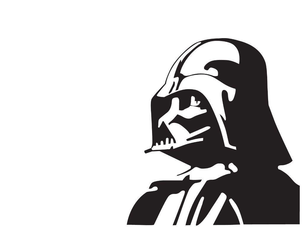 Pin on may the. Starwars clipart stencil