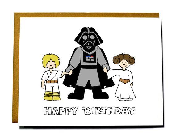 Darth vader clipart happy. Funny star wars birthday