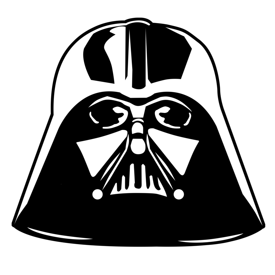 Starwars clipart head darth vader. Star wars by komankk