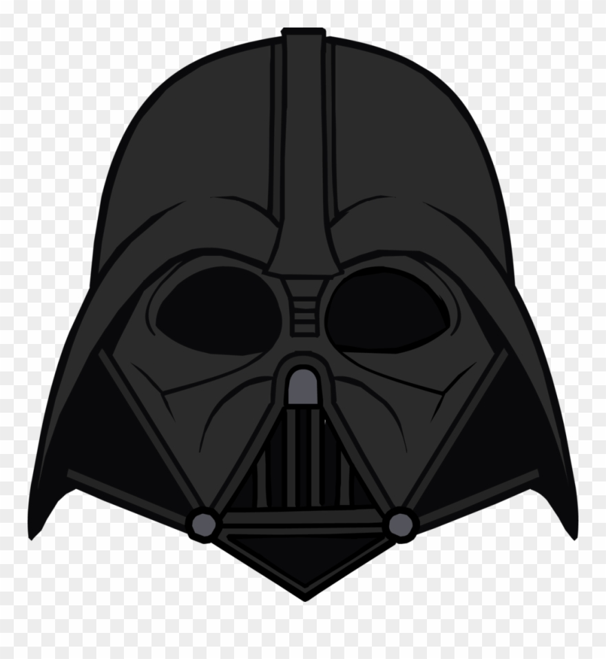 Dvhelmet transparent . Starwars clipart head darth vader