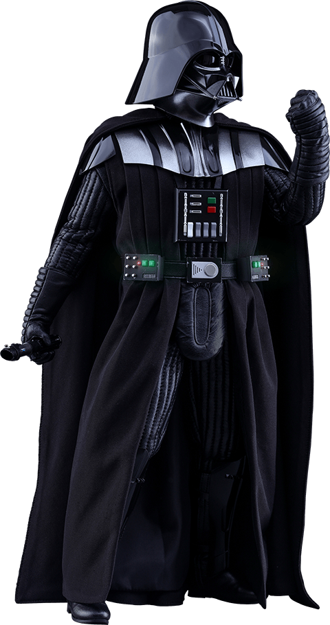 Darth vader clipart isolated. Side view transparent png