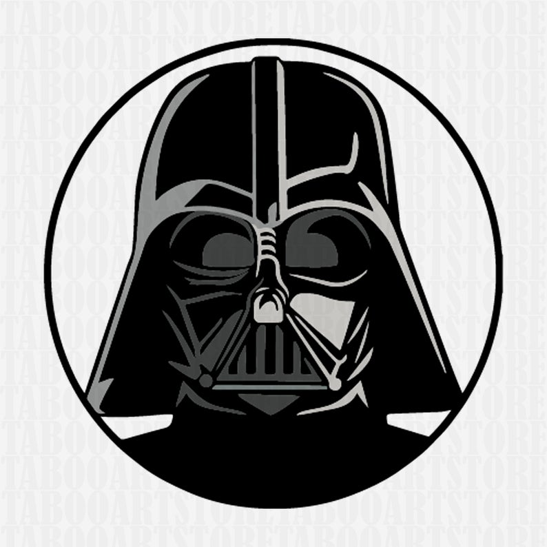 Helmet svg star wars. Darth vader clipart logo