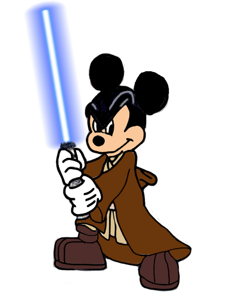 Jedi master mouse by. Darth vader clipart mickey ear
