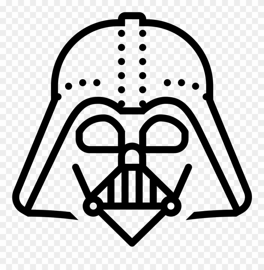 Darth vader clipart outline. Icon pinclipart