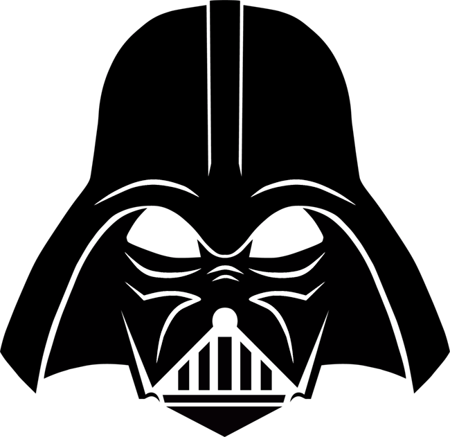 Darth vader clipart outline. Diy may the th