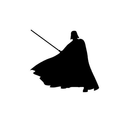 Darth vader clipart silhouette. Station