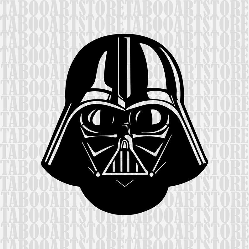 Darth vader clipart silhouette. Star wars helmet svg