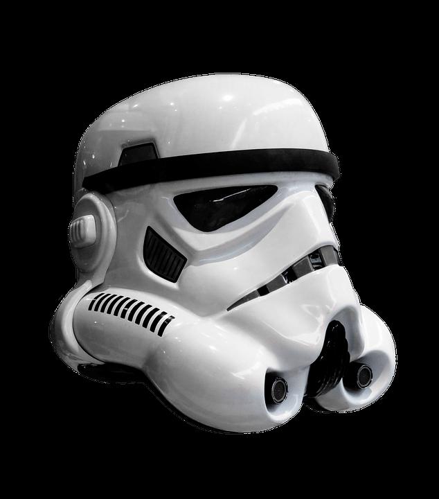 Transparent stickpng movies star. Storm trooper helmet png