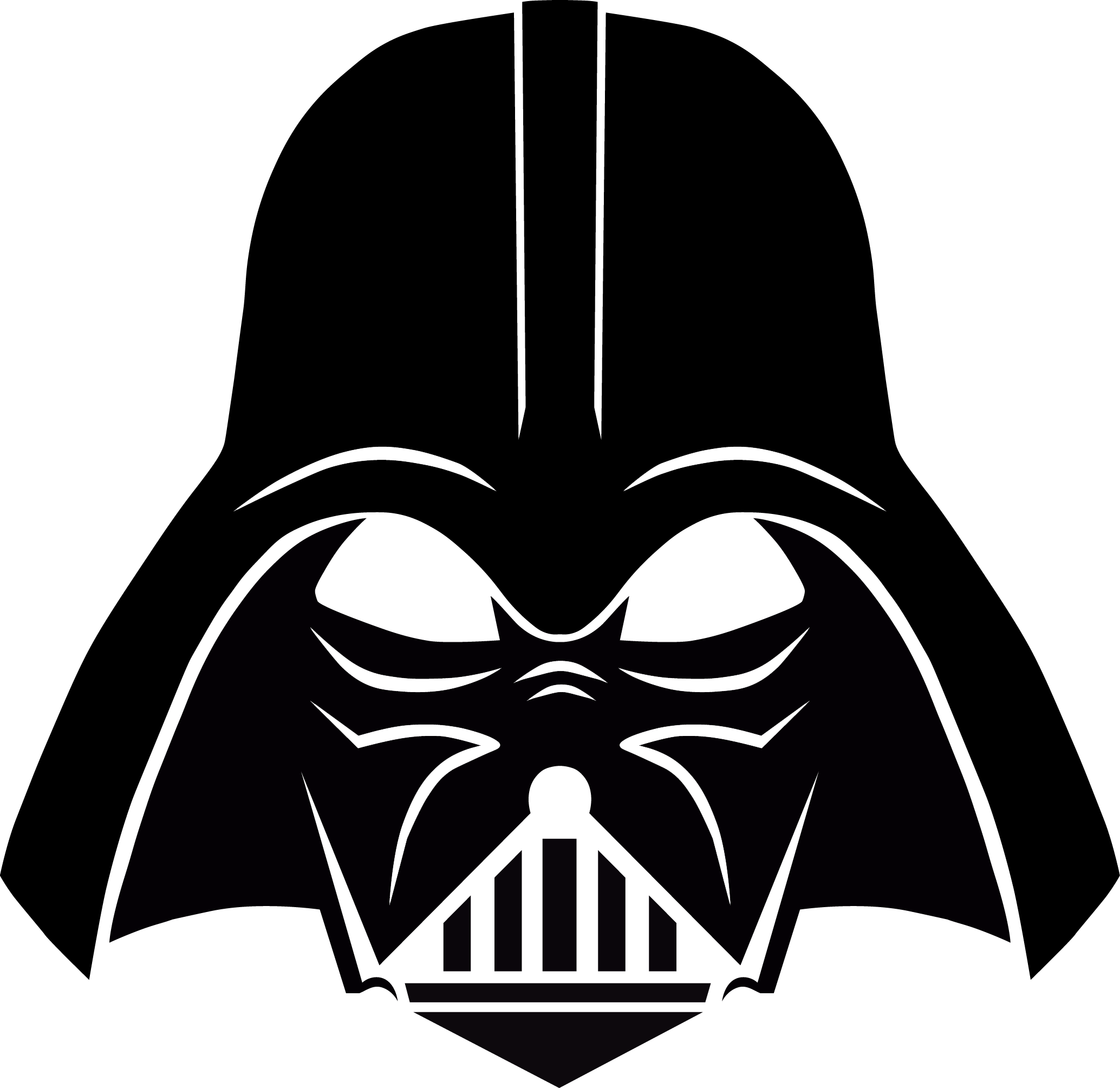 Starwars clipart stencil. Darth vader free download
