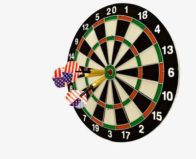 Professional dartboard dart board. Darts clipart