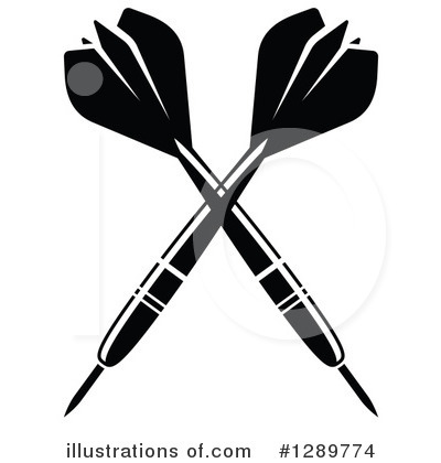 Darts clipart. Illustration by vector tradition