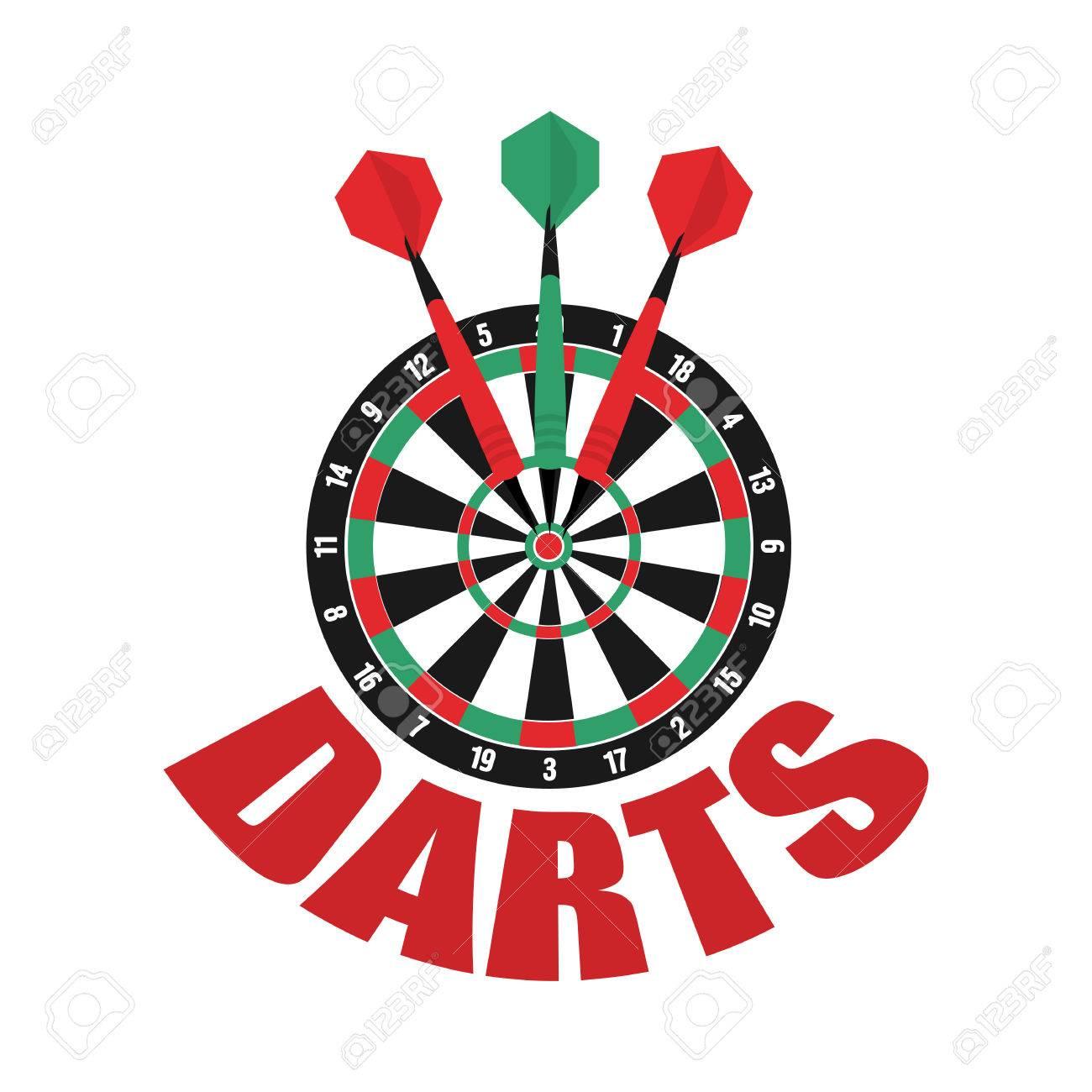 Label badge sporting symbols. Darts clipart logo