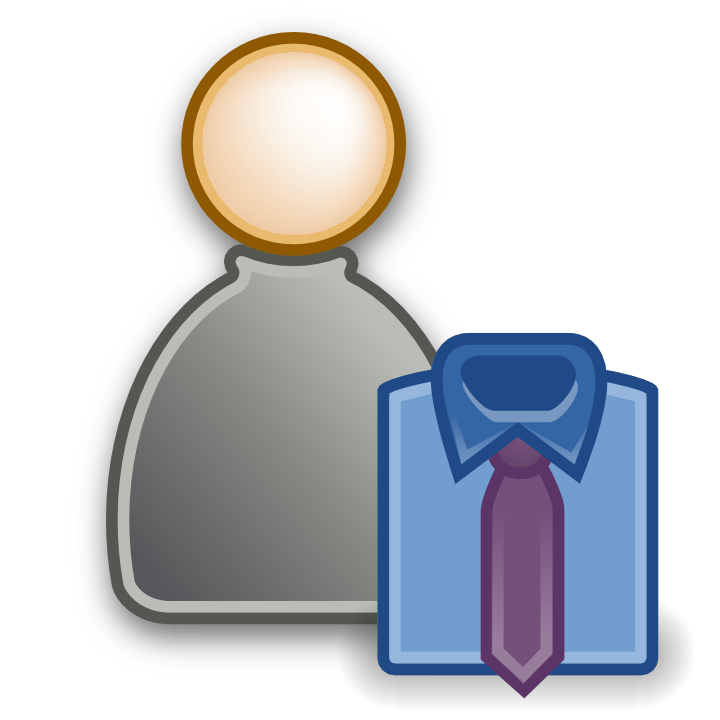 People icon page. Manager clipart administrator