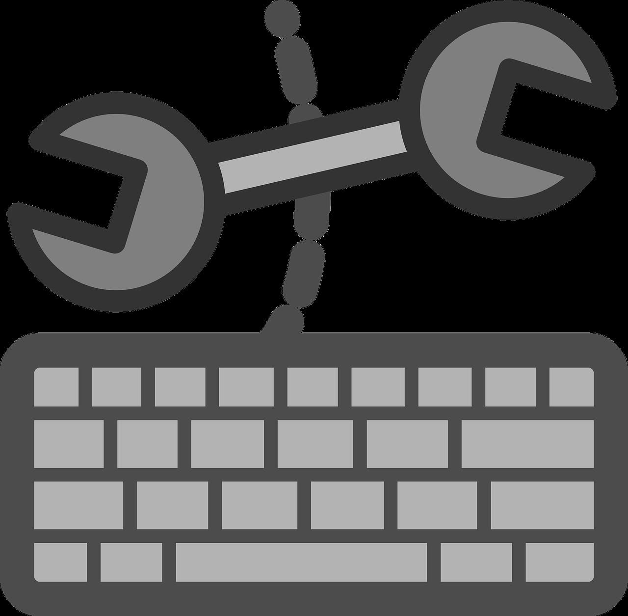 Keyboard clipart item. Configuration management in drupal
