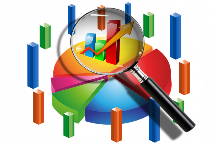 Business intelligence and analytics. Graph clipart financial health