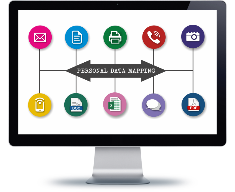 Gdpr data mapping flow. Important clipart general information