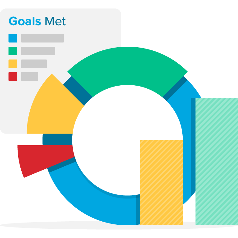 Statistics clipart increased. Outcomes webpt meet goals