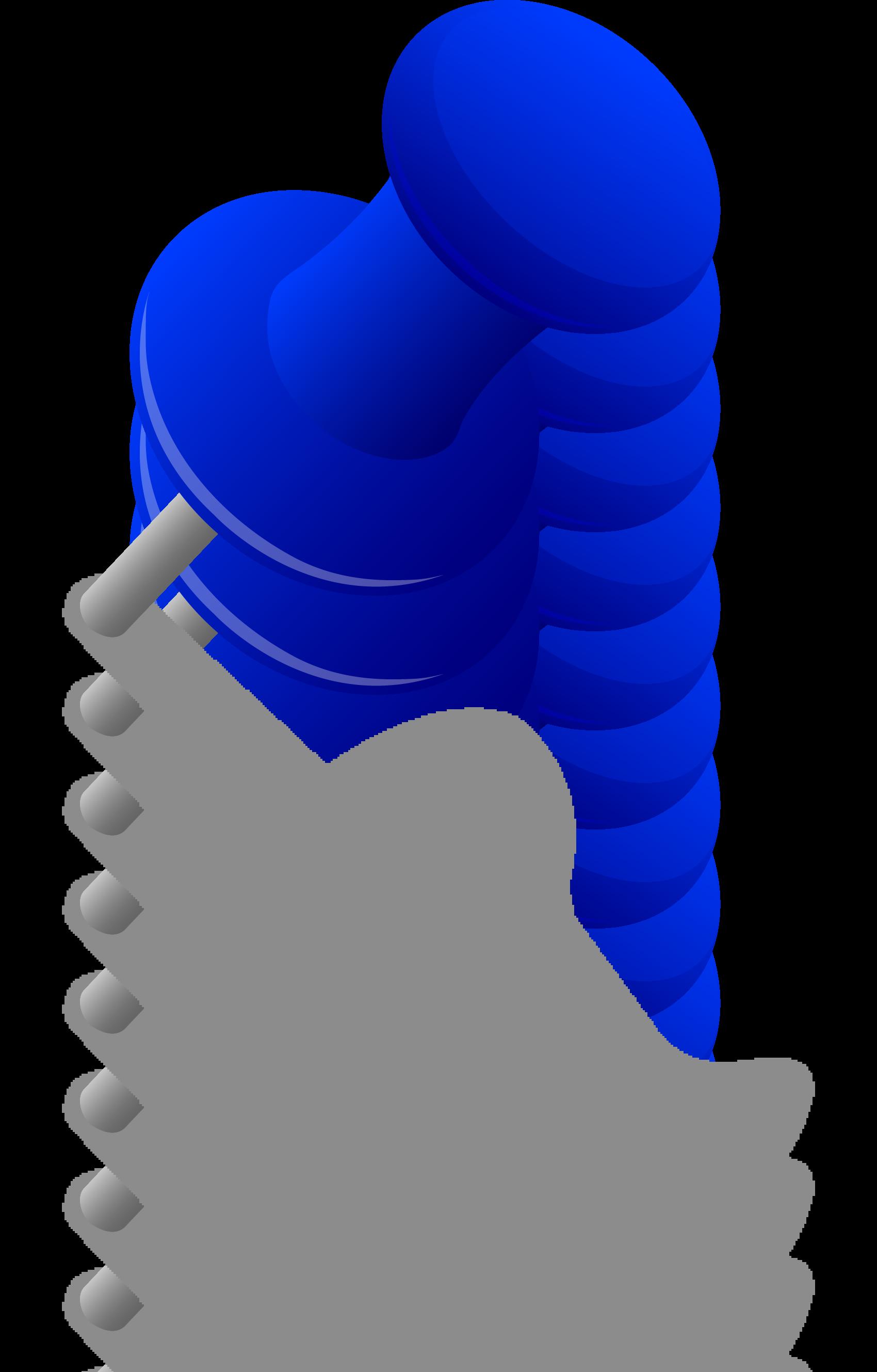 Thumb clipart sideways. Thumbtack blue in wall