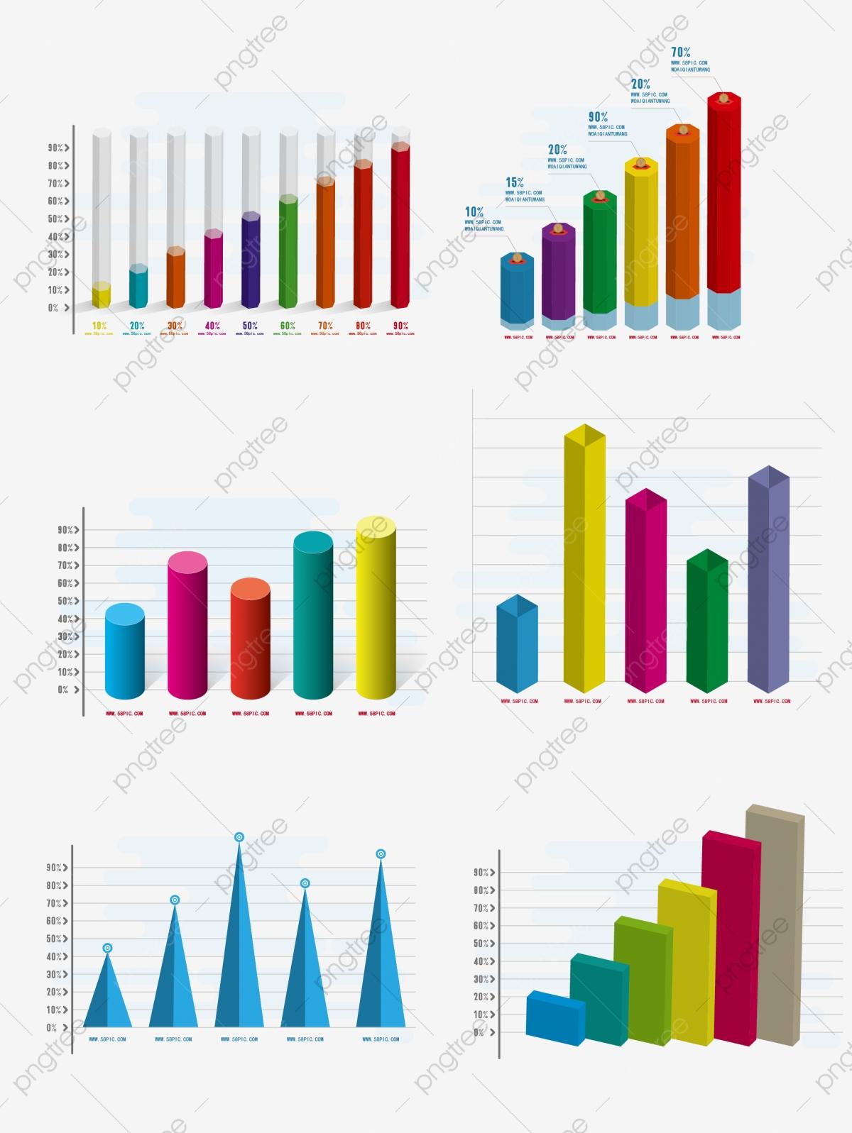 Stereo pie chart model. Data clipart histogram