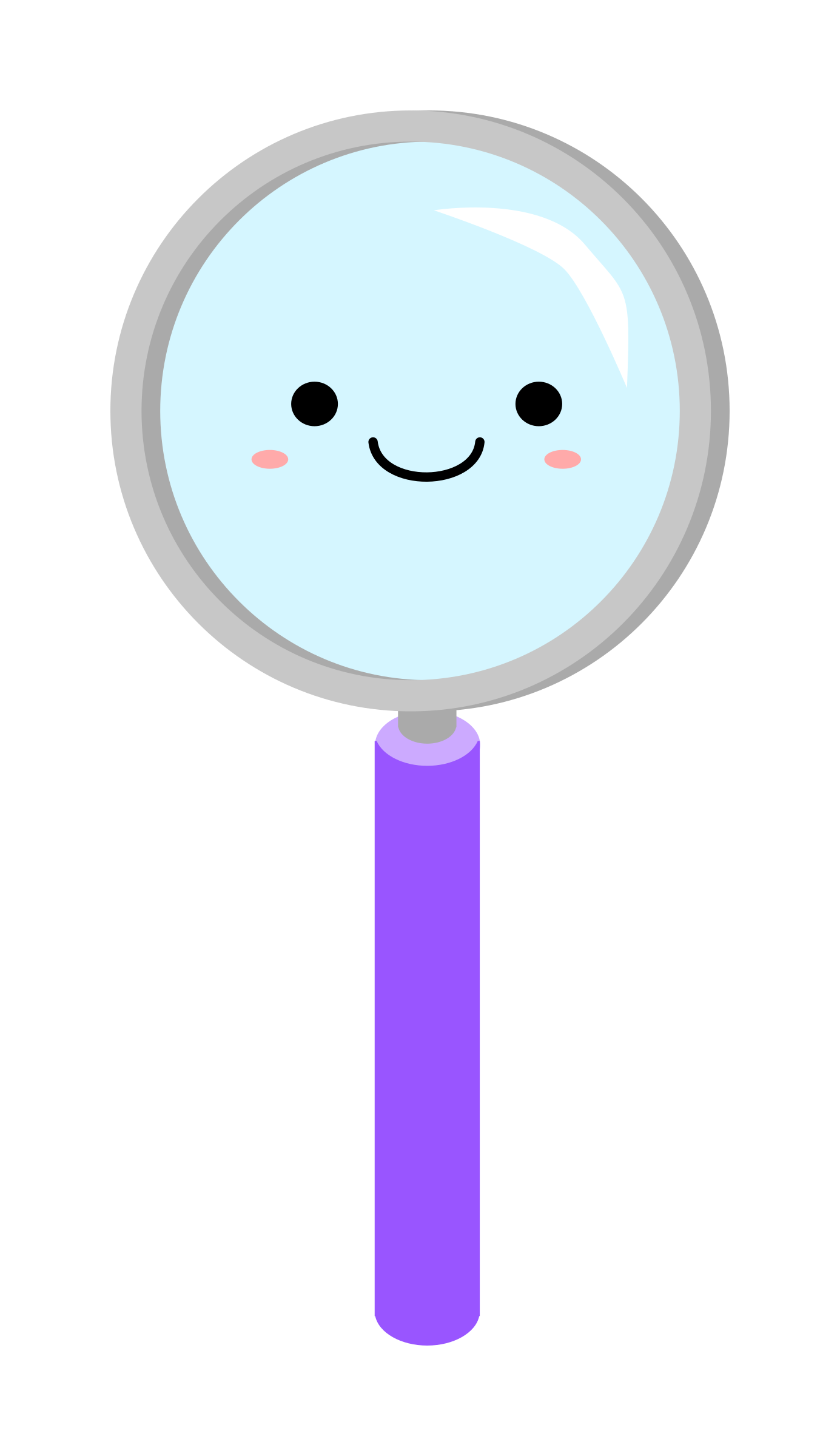 Magnifying glass icons png. Drink clipart kawaii