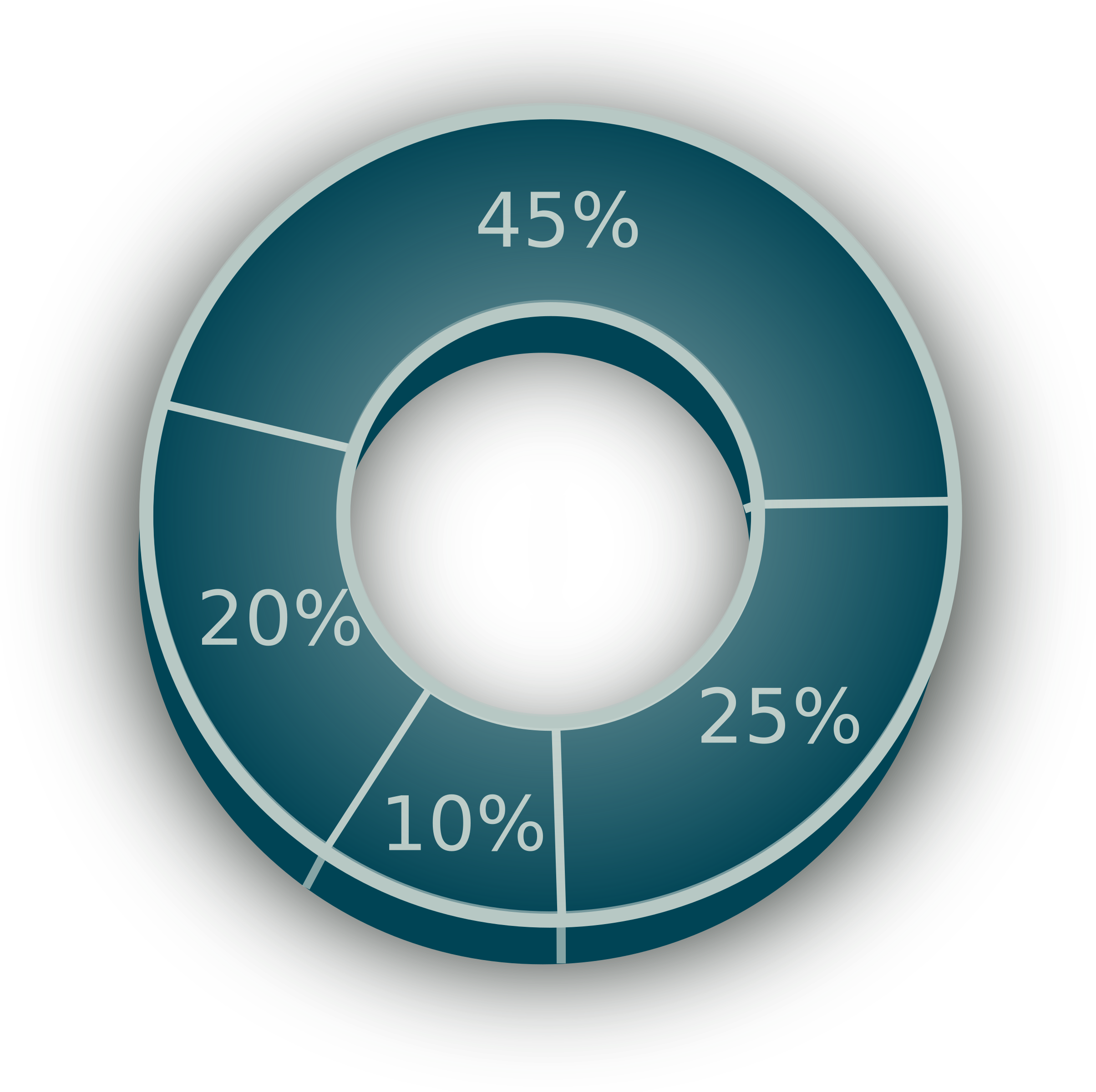 Graph clipart data presentation. D pie chart big