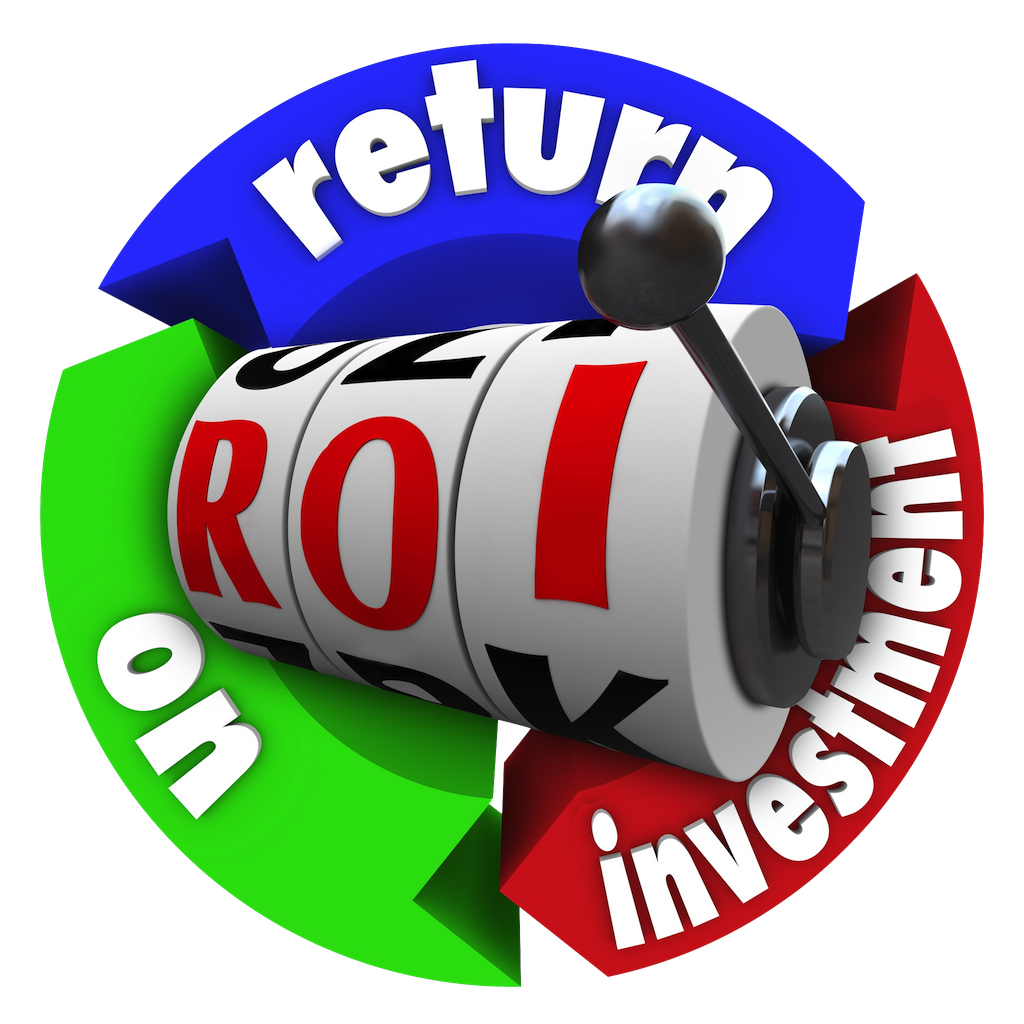 Measuring law firm business. Data clipart return on investment