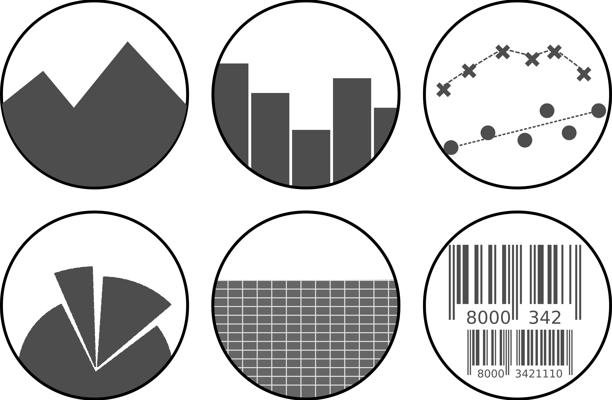 Data clipart scatter plot. Icon set graph icons