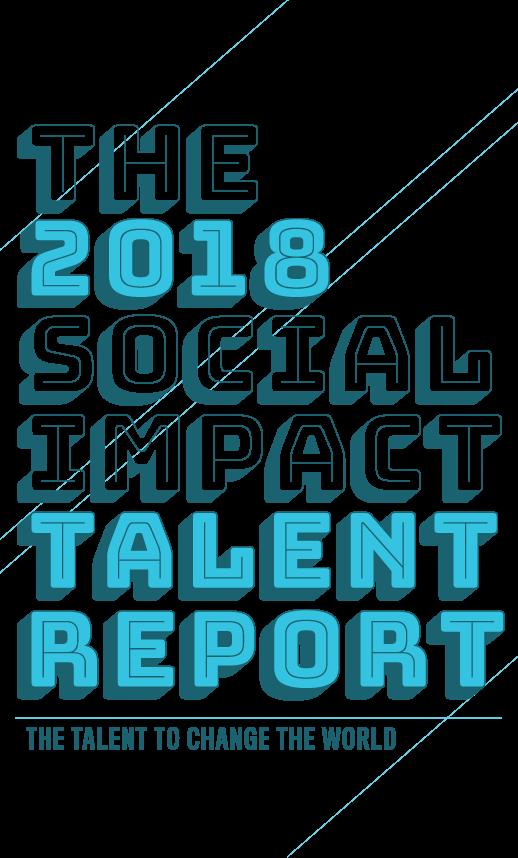 Talent report echoing green. Data clipart social impact