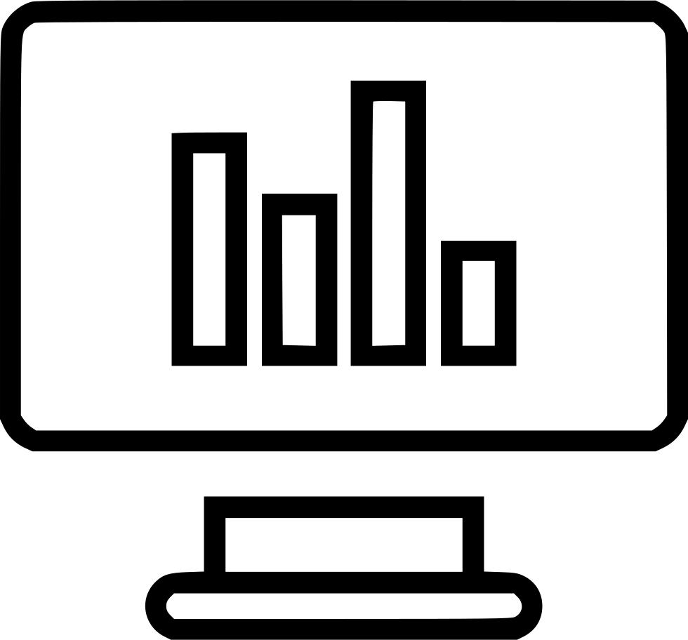 Bars report monitor online. Graph clipart data presentation